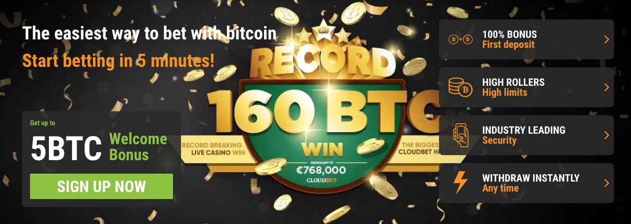 CloudBet Bitcoin Welcome Bonuses For New Players