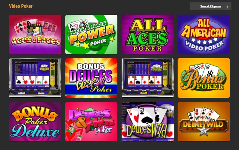 CloudBet Casino poker
