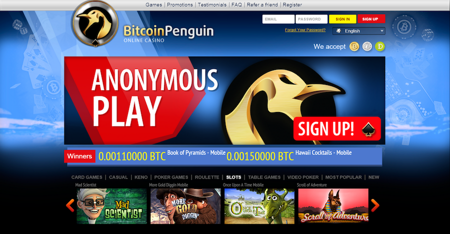 Bitcoin Penguin Review: 100% First Deposit up to 0.2BTC