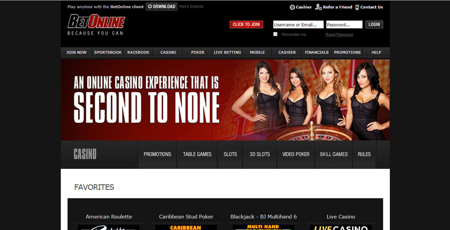 BetOnline top cryptocurrency casino