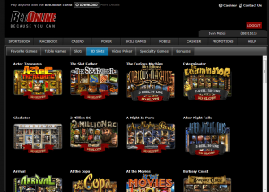 BetOnline Games Selection