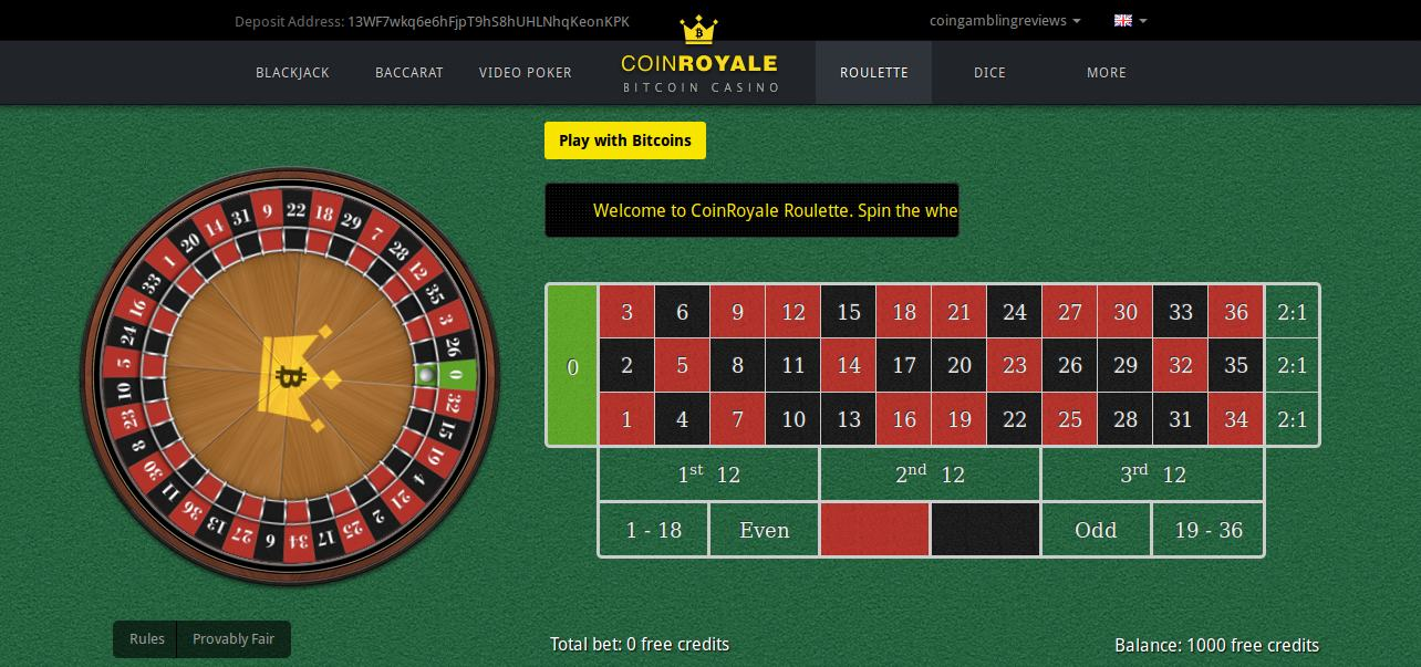 Coin Royale interface