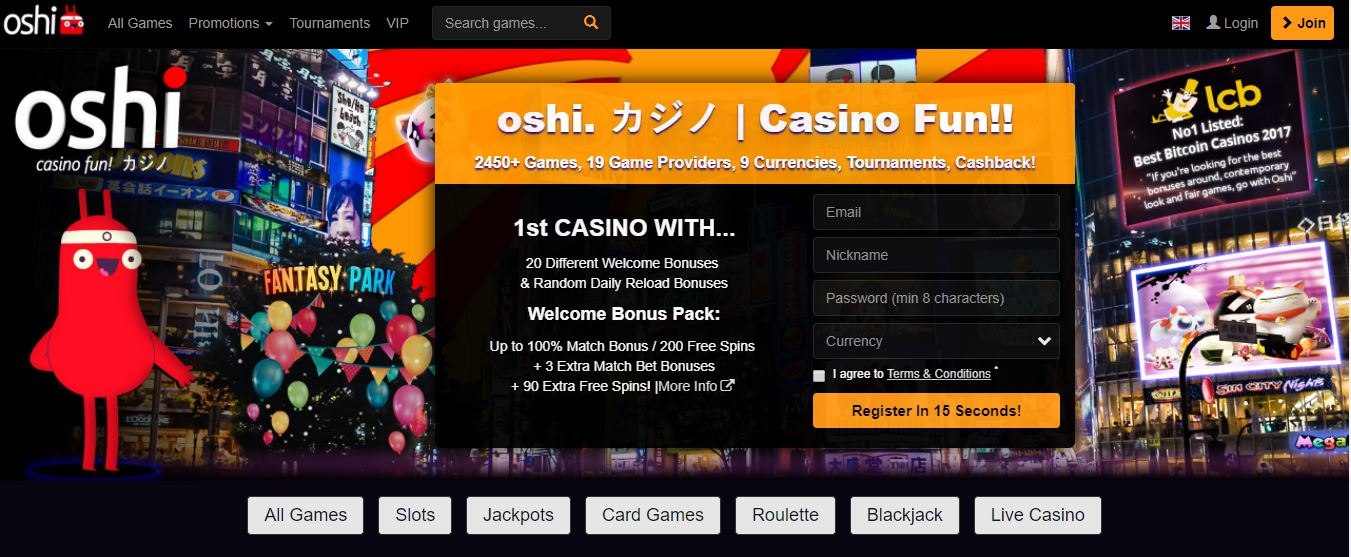 Oshi.io Casino review
