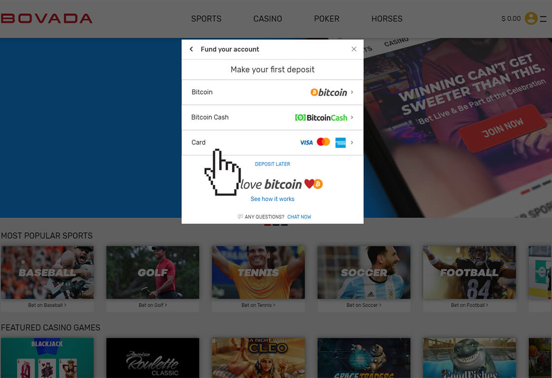 How To Deposit And Withdraw Bitcoin On Bovada lv
